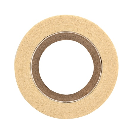 masking tape: roll of masking tape on white  Stock Photo