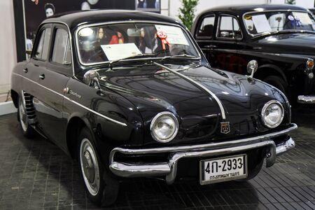 BANGKOK - JUNE 22   Sedan 4-door, Renault Dauphine  1960 , 845 CC , on display at The 36th Bangkok Vintage Car Concours on June 22, 2012 in Bangkok, Thailand
