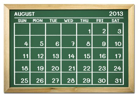 close up of a calendar 2013 on a blackboard Stock Photo - 15070659