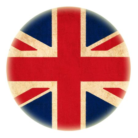 grunge England flag drawing button  photo