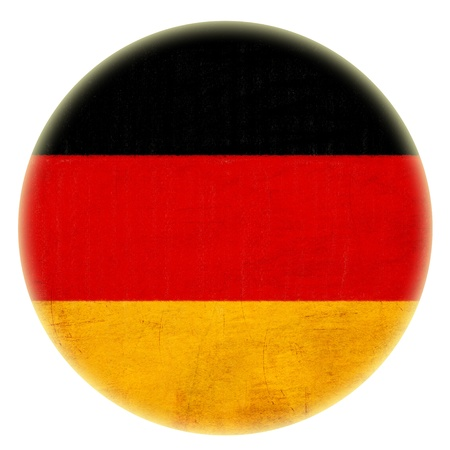 grunge bouton dessin drapeau allemand