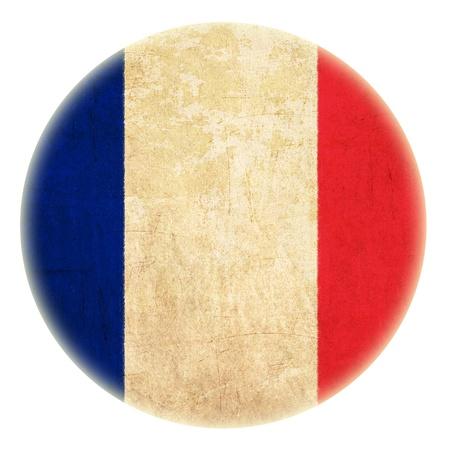 grunge bouton dessin drapeau français