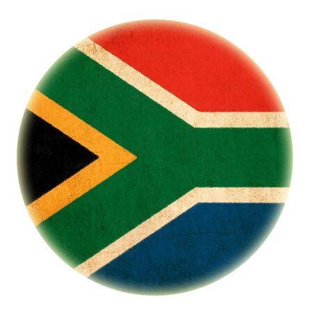 grunge South Africa flag drawing button Stock Photo - 15070673