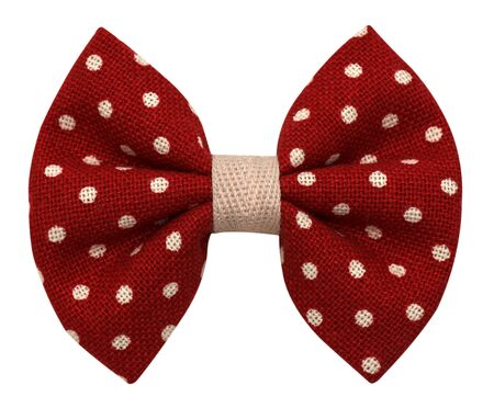 handmade bow tie isolated on white background  photo