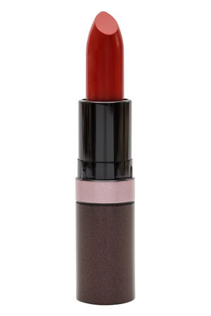 close up of a lipstick on white background photo