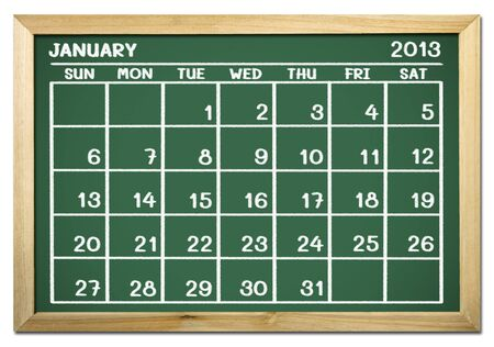 close up of a calendar 2013 on a blackboard photo
