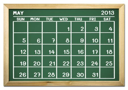 close up of a calendar 2013 on a blackboard Stock Photo - 15070656