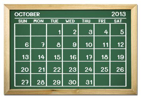 close up of a calendar 2013 on a blackboard Stock Photo - 15070663