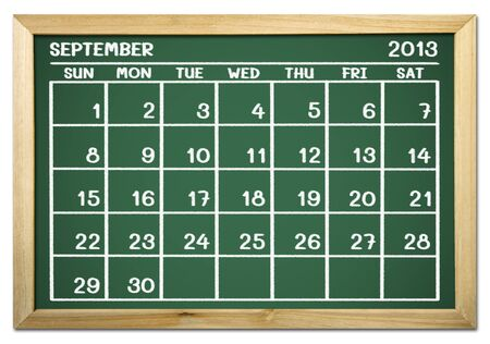 close up of a calendar 2013 on a blackboard  Stock Photo - 15070664