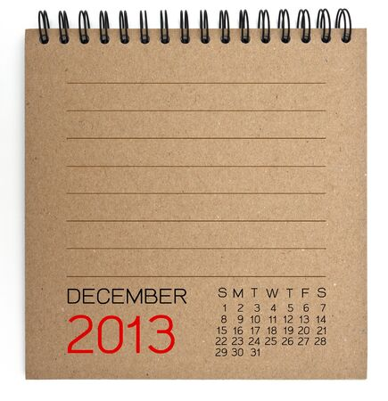 2013 Calendar brown Texture Paper  photo