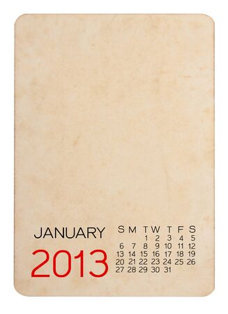 Calendar 2013 on blank photo Background Stock Photo - 15110437