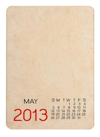 Calendar 2013 on blank photo Background Stock Photo - 15110286