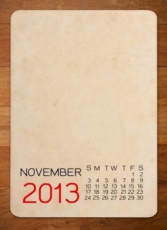 Calendar 2013 on blank photo Background Stock Photo - 15110517