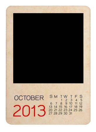 Calendar 2013 on blank photo Background Stock Photo - 15110109