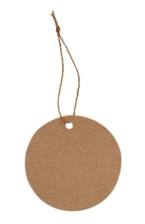 Blank tag brun à égalité avec string