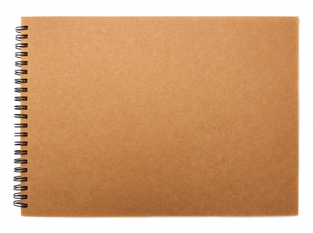 recycled paper notebook front cover Stock Photo - 15454602