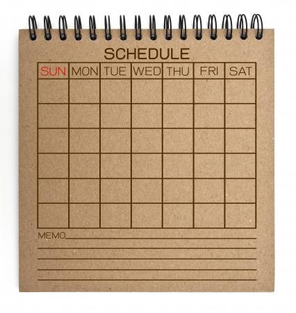 brun calendrier portable