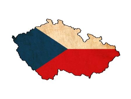 r�publique  tch�que: Carte de cru de la R�publique tch�que Banque d'images