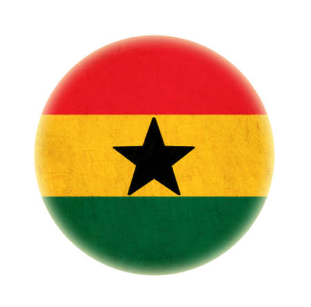 Ghana grunge flag drawing button Stock Photo - 15742006