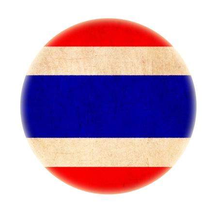 identidad cultural: Tailandia bandera grunge dibujo botón
