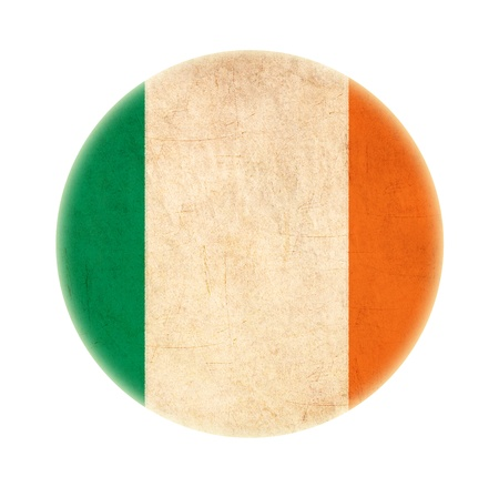 grunge Ireland flag drawing button  photo