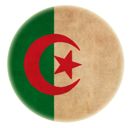 grunge Algeria flag drawing button Stock Photo - 15941905