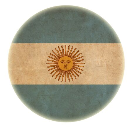 grunge Argentina flag drawing button photo