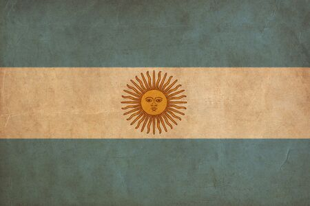 Argentina flag drawing ,grunge and retro flag series photo