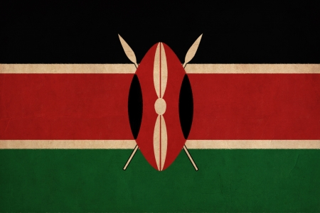 Kenya flag drawing ,grunge and retro flag series  photo