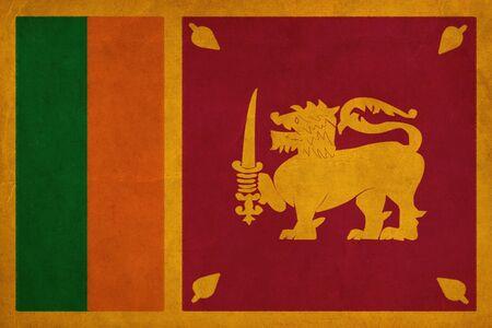 Sri Lanka dessin drapeau, grunge et rétro flag series Banque d'images