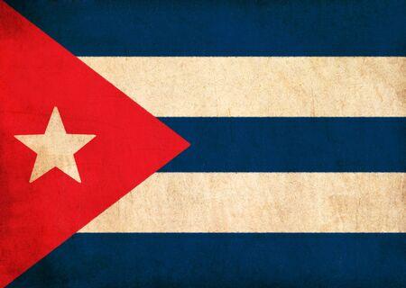 Cuba flag drawing ,grunge and retro flag series  photo