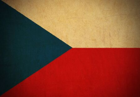 Czech Republic flag drawing ,grunge and retro flag series  photo
