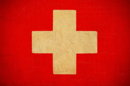 Switzerland flag drawing ,grunge and retro flag series  photo