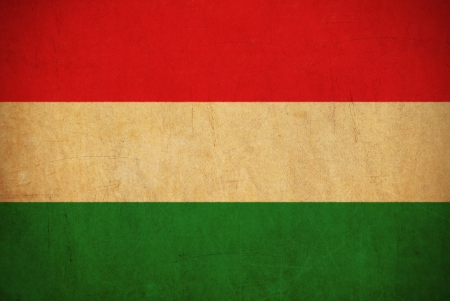 Hungary flag drawing ,grunge and retro flag series  photo