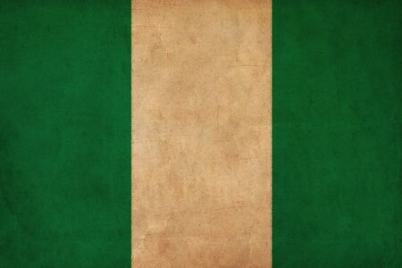Nigeria flag drawing ,grunge and retro flag series  photo