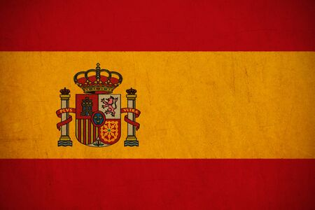 Spain flag drawing ,grunge and retro flag series photo