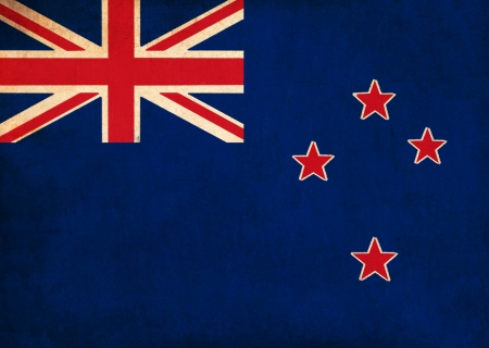New Zealand flag drawing ,grunge and retro flag series  photo