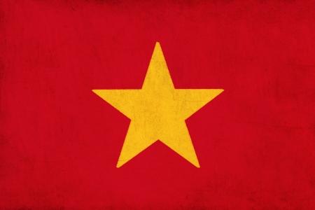 Vietnam flag drawing ,grunge and retro flag series