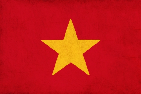Vietnam flag drawing ,grunge and retro flag series  Stock Photo - 15796739