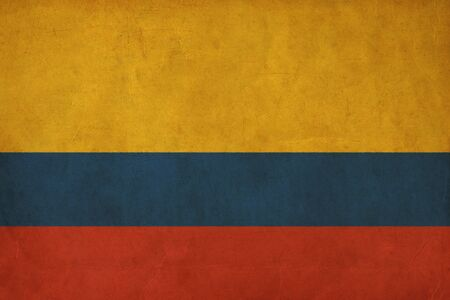 Colombia flag drawing ,grunge and retro flag series  photo
