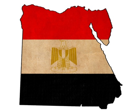 Egypt map on Egypt flag drawing ,grunge and retro flag series Stock Photo - 15938811