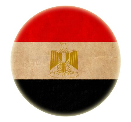 grunge Egypt flag drawing button  Stock Photo - 15938824