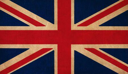 UK flag drawing ,grunge and retro flag series  Stock Photo