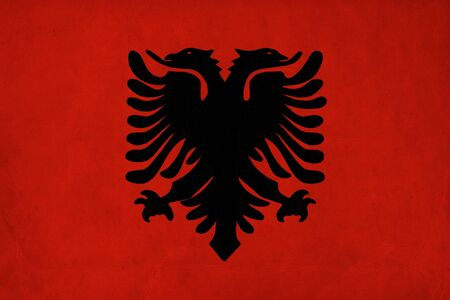 Albania flag drawing ,grunge and retro flag series  photo