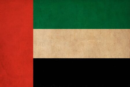 United Arab Emirates flag drawing ,grunge and retro flag series  photo