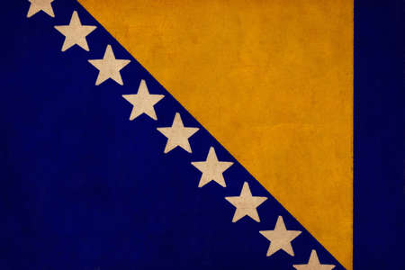 bosnia and  herzegovina: Bosnia and Herzegovina flag drawing ,grunge and retro flag series  Stock Photo