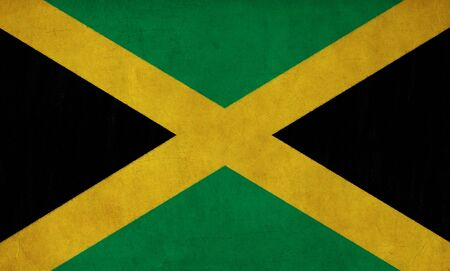 Jamaica flag drawing ,grunge and retro flag series photo