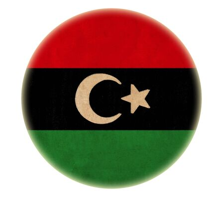 grunge Libya flag drawing button  photo