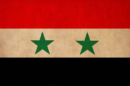 Syria flag drawing ,grunge and retro flag series photo