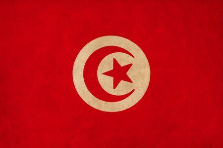 Tunisia flag drawing ,grunge and retro flag series Stock Photo - 15938591